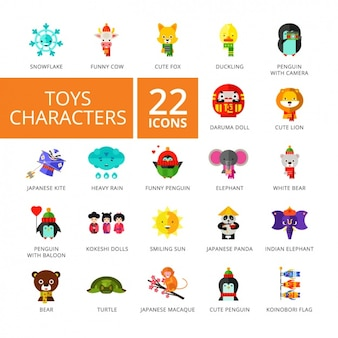 Toy icons collection