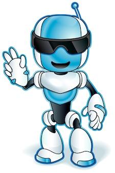 Toy robot cartoon illustration.