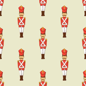 Toy soldier seamless pattern. kids wallpaper with character.