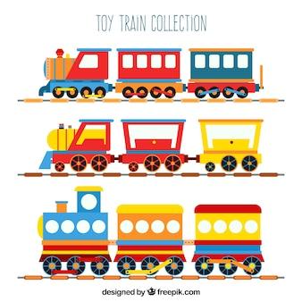 Коллекция игрушечных поездов