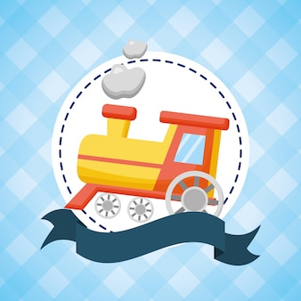 ベビーシャワーのおもちゃの列車