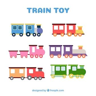 Toy trains set