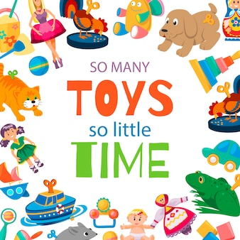 Toys for baby to play illustration.