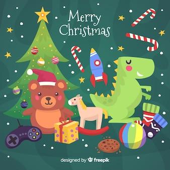 Toys christmas background