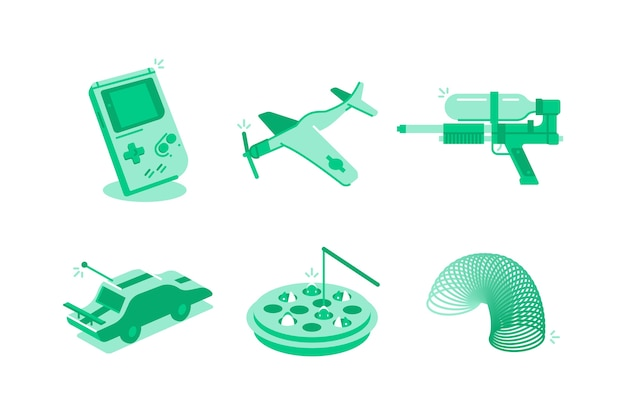 Toys and games illustration
