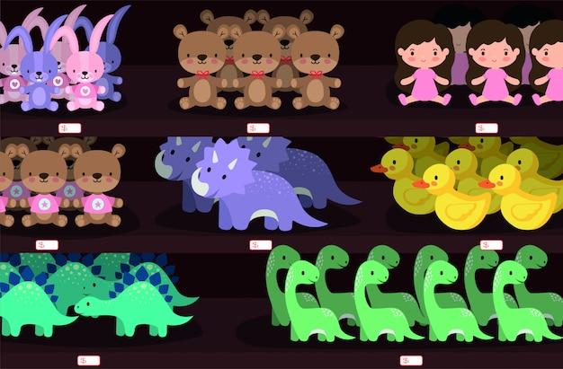 Набор иконок игрушки