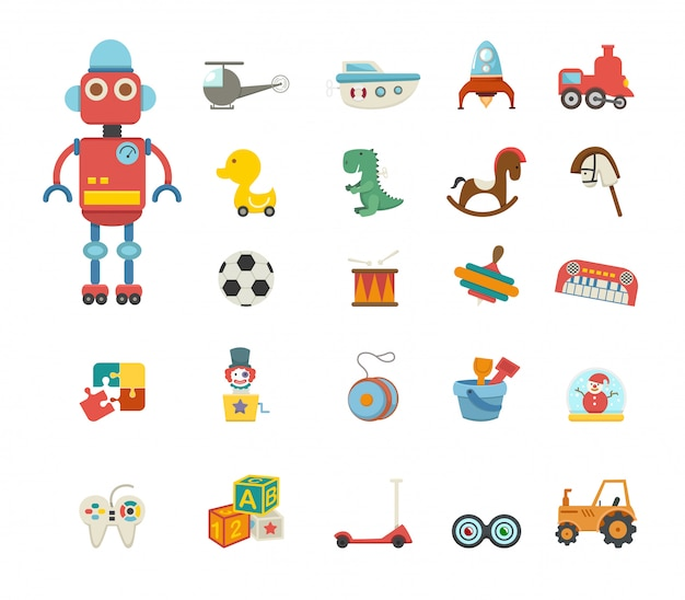 Toys icon vector