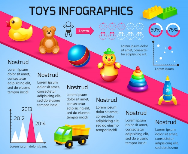 Toys infographic template