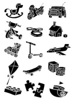 Toys set doodle cartoon