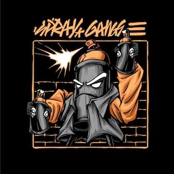Игрушки аэрозольная краска бомбардировщик серый граффити голова продукт одежда красочный черный художественный персонаж модный плакат
