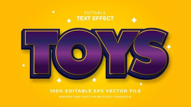 Toys text style editable template