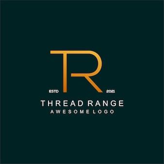 Tr letter logo luxury illustration