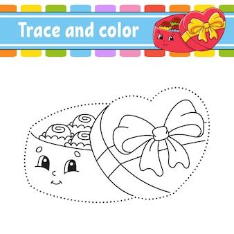 След и цвет. раскраска для детей.