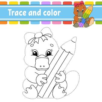 След и цвет раскраска для детей