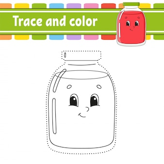 Trace and color.