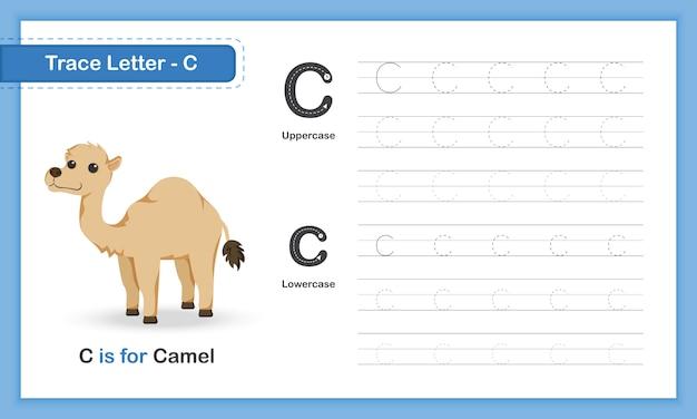 Trace letter-g:az動物、小文字、手書きの練習帳