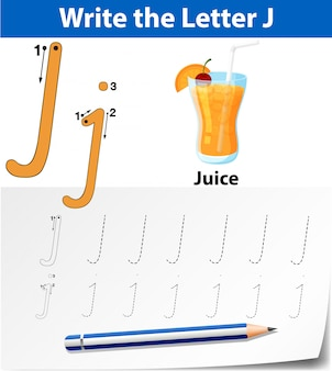 Trace the letter j