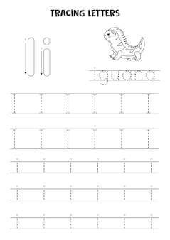 Trace letters of english alphabet. uppercase and lowercase i. handwriting practice for preschool kids.