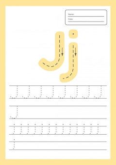 Trace letters worksheet for kids preschool and school age.