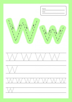 Trace letters worksheet