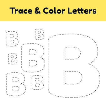 Trace line letter for kindergarten and preshool kids.