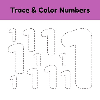 Trace line number for kids.