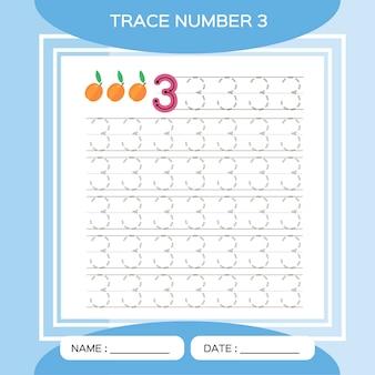 トレース番号33。子供の教育ゲーム。初期の活動。細かい運動技能を練習するための就学前のワークシート。
