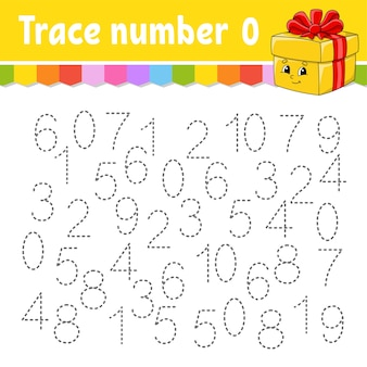 Trace number illustration