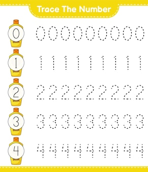 Trace the number tracing number with sunscreen educational children game printable worksheet