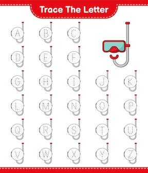 스쿠버 다이빙 마스크 교육용 어린이 게임으로 편지 추적 편지 추적