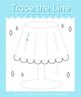 Обведите линию следом за пунктирными линиями и раскрасьте картинку.