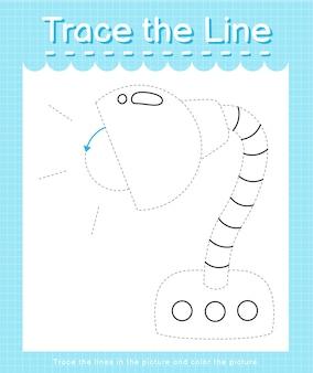 Проведите линию по пунктирным линиям и раскрасьте лампу.