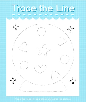 Проследите след линии по пунктирным линиям и раскрасьте волшебное изображение