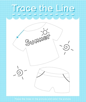 Проведите линию по пунктирным линиям и раскрасьте картинку.