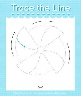 Проведите линию по пунктирным линиям и раскрасьте картинку