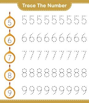番号をトレースします。 voavangaで番号をトレースします。教育的な子供向けゲーム、印刷可能なワークシート
