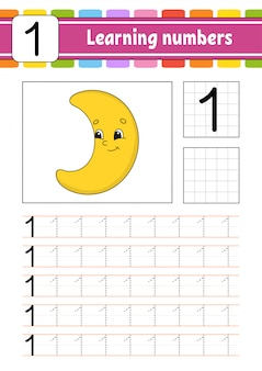 Trace and write worksheet moon