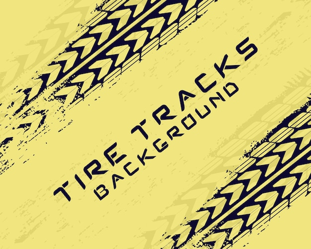 Traces car tires and tracks on a colored background. realistic composition traces. motocross, bike path, car track or auto racing. tire change car service. vehicle icon - minimum symbol.