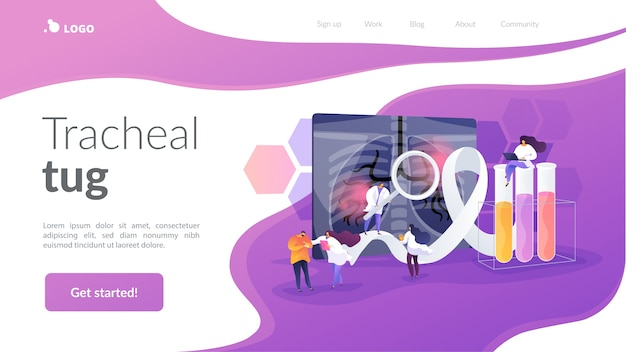 Tracheal tug landing page template