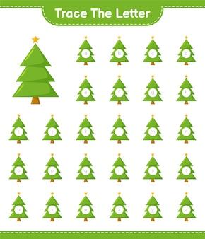 Отслеживание букв алфавита с елки