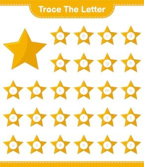 Отслеживание букв алфавита со звездами