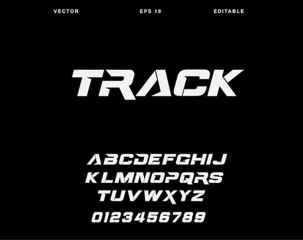 Track alphabet