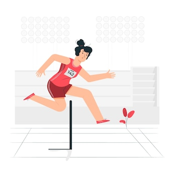 Легкая атлетика иллюстрации концепции Бесплатные векторы