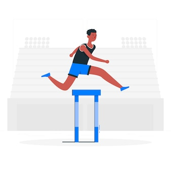 Track and field illustration concept