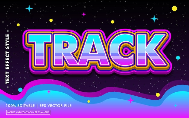 Track text effect template