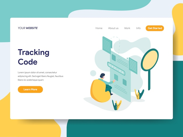 Tracking code for website page