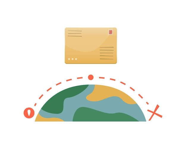 Tracking the location of a mail item on the internet or in the app