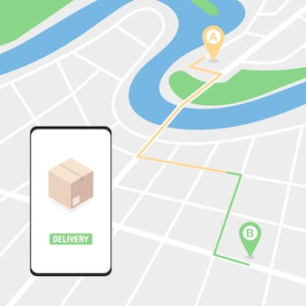Tracking order on the map