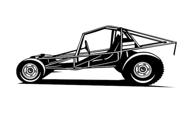 Tractor car illustration