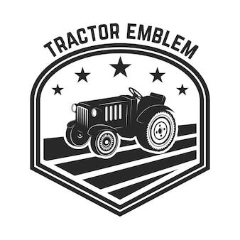 Tractor emblem illustration